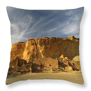 Late Afternoon In Pueblo Bonito Throw Pillow by Feva  Fotos