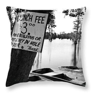 Launch Fee Throw Pillow by Scott Pellegrin