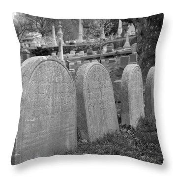 Laurel Hill Headstones Throw Pillow by Jennifer Ancker