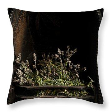 Lavender Fire Throw Pillow by Anne Gilbert