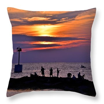 Lavender Sunset Throw Pillow by Frozen in Time Fine Art Photography