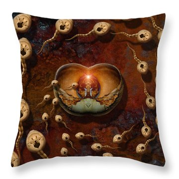Laws Of Attraction 2 Throw Pillow by WB Johnston