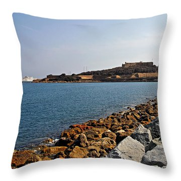 Le Fort Carre - Antibes - France Throw Pillow by Christine Till