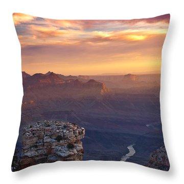 Le Grand Sunrise Throw Pillow by Darren  White