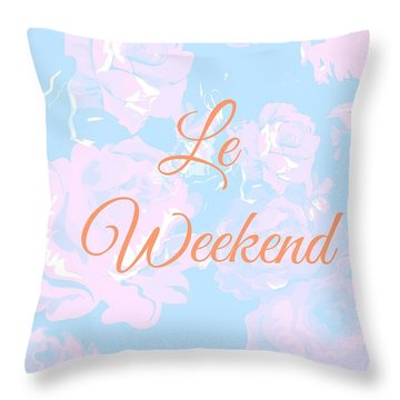 Le Weekend Throw Pillow by Chastity Hoff