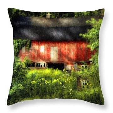 Leave Our Farms Throw Pillow by Lois Bryan