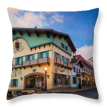Leavenworth Alps Throw Pillow by Inge Johnsson