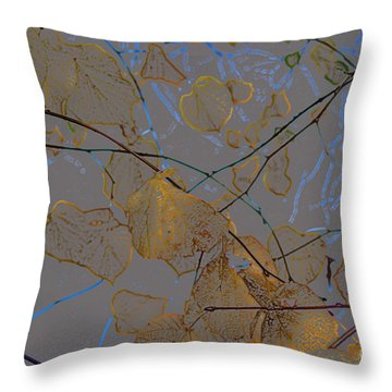Leaves Throw Pillow by Carol Lynch
