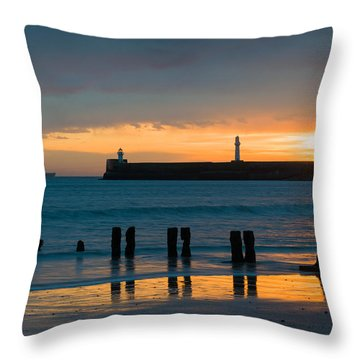 Leaving Port Throw Pillow by Dave Bowman