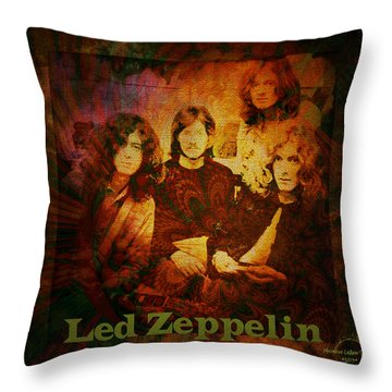Led Zeppelin - Kashmir Throw Pillow by Absinthe Art By Michelle LeAnn Scott