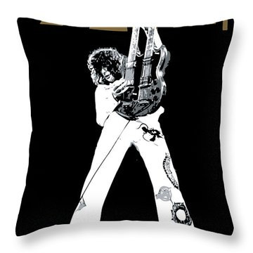 Led Zeppelin No.06 Throw Pillow by Caio Caldas