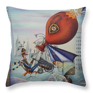 Leeds Gentleman Flies Again Throw Pillow by Krystyna Spink