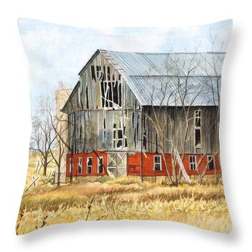 Left Behind Throw Pillow by Barbara Jewell