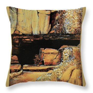 Legendary Lost Dutchman Mine Throw Pillow by JAXINE Cummins