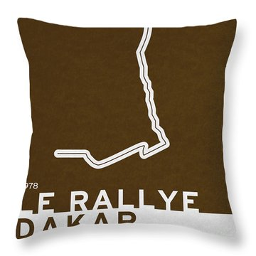 Legendary Races - 1978 Le Rallye Dakar Throw Pillow by Chungkong Art