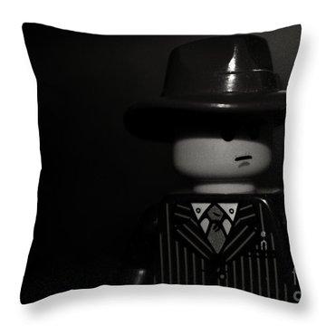 Lego Film Noir II Throw Pillow by Cinema Photography
