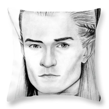Legolas Greenleaf Throw Pillow by Kayleigh Semeniuk