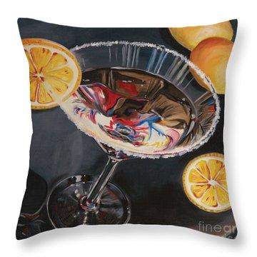 Lemon Drop Throw Pillow by Debbie DeWitt