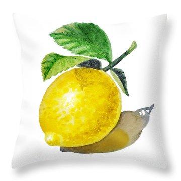 Lemon Throw Pillow by Irina Sztukowski