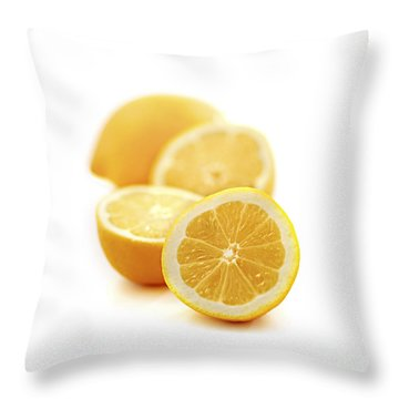 Lemons Throw Pillow by Elena Elisseeva