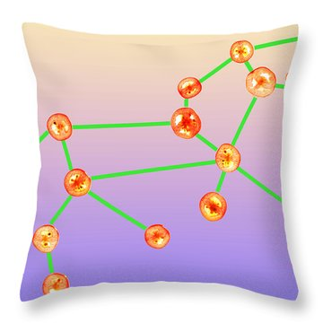 Leo Constellation Composed By Tomato Slices Food Art Throw Pillow by Paul Ge