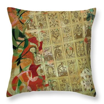 Leo Star Throw Pillow by Corporate Art Task Force