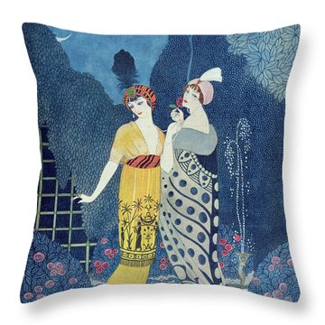 Les Modes Throw Pillow by Georges Barbier