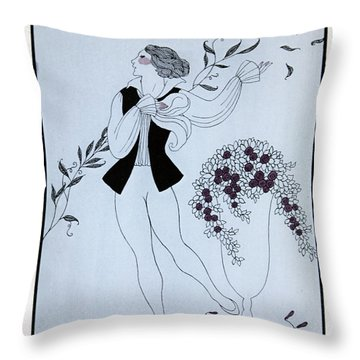 Les Sylphides Throw Pillow by Georges Barbier
