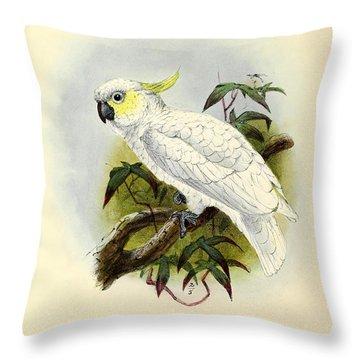 Lesser Cockatoo Throw Pillow by J G Keulemans