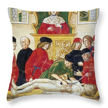 Lesson In Dissection Throw Pillow by Granger