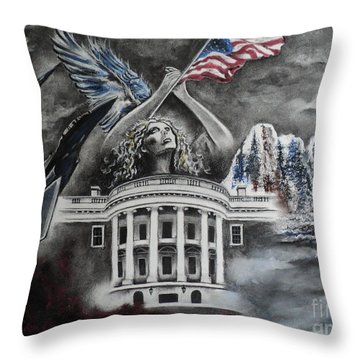 Let Freedom Ring Throw Pillow by Carla Carson