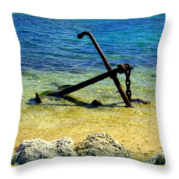 Letting Go Throw Pillow by Karen Wiles