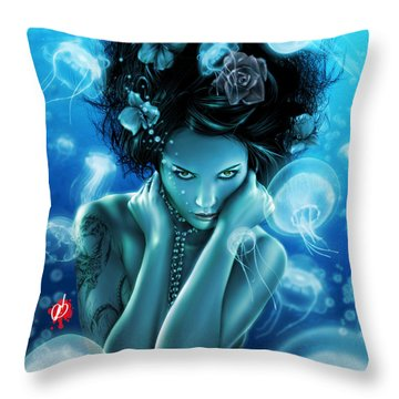Leviathan Throw Pillow by Pete Tapang