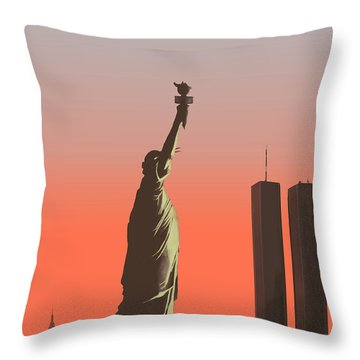 Liberty Throw Pillow by Mike Linman