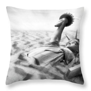 Liberty Park II Panoramic Throw Pillow by Mike McGlothlen