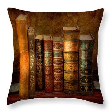 Librarian - Writer - Antiquarian Books Throw Pillow by Mike Savad