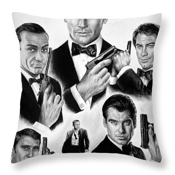 Licence To Kill  Bw Throw Pillow by Andrew Read
