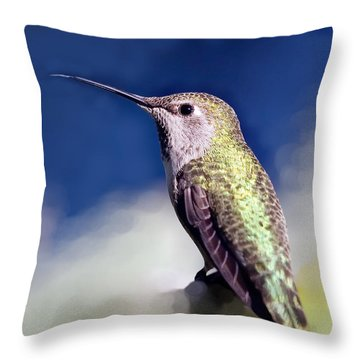 Lick Your Lips Throw Pillow by Angela A Stanton
