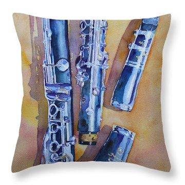 Licorice Pieces Throw Pillow by Jenny Armitage