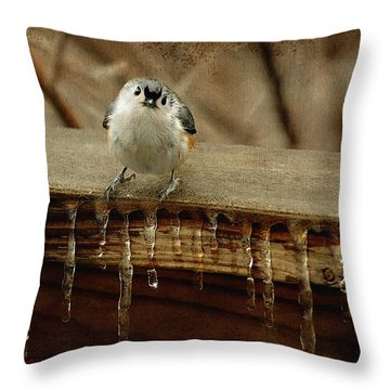 Life Can Be Tough Throw Pillow by Lois Bryan