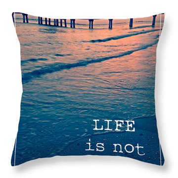 Life Is Not A Race Throw Pillow by Edward Fielding