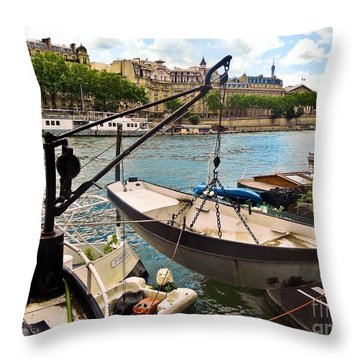 Life On The Seine Throw Pillow by Lauren Leigh Hunter Fine Art Photography