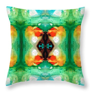 Life Patterns 1 - Abstract Art By Sharon Cummings Throw Pillow by Sharon Cummings