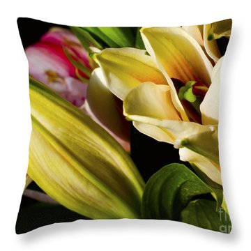Life Throw Pillow by Pravine Chester