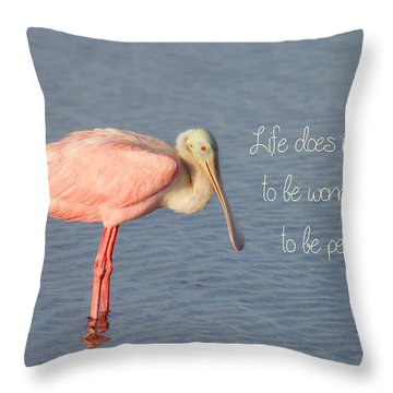 Life Wonderful And Perfect Throw Pillow by Kim Hojnacki