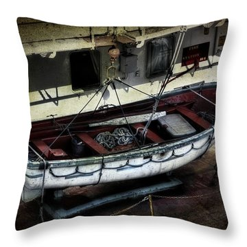 Lifeboat Throw Pillow by Evie Carrier