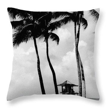 Lifeguard Hut Throw Pillow by Gary Gingrich Galleries