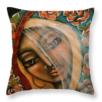Lifting The Veil Throw Pillow by Maya Telford