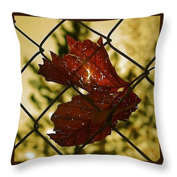 Light Leaf Links Throw Pillow by Rona Black