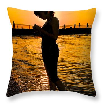 Light Of My Life Throw Pillow by Frozen in Time Fine Art Photography